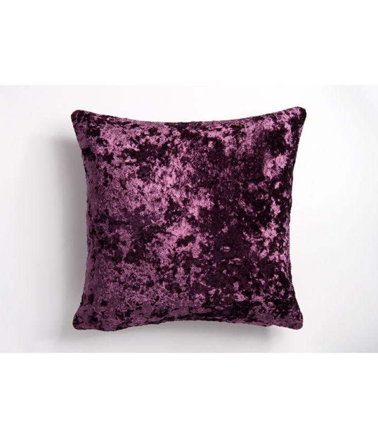 Moulin Deep Crushed Velvet Reversible Purple Cushion Cover