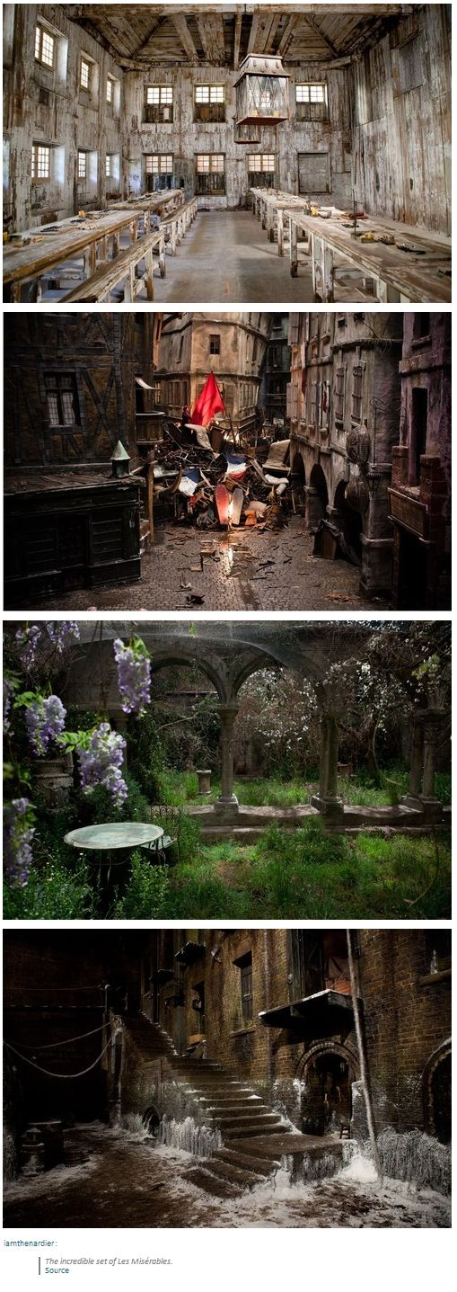 The incredible set of Les Miserables. Seriously though, they were some of the best sets EVER.  #lesmiserables