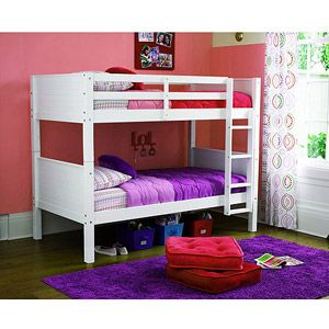 Walmart Your Zone Zzz Place To Be Twin Bunk Bed Wth Set Of 2 Mattress White