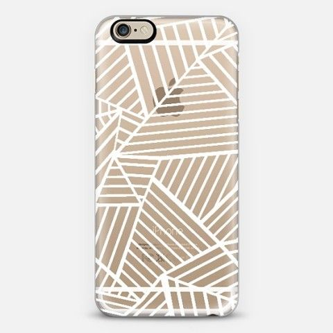 White see through phone case
