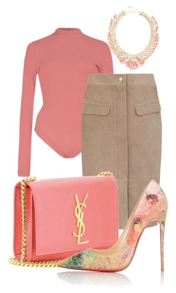 spring is here by minkstyles on Polyvore featuring polyvore fashion style Christian Louboutin BCBGMAXAZRIA clothing