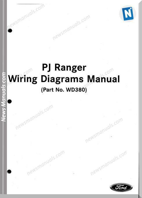 Ford Ranger Models 2005 Year Wiring Diagrams Manual in