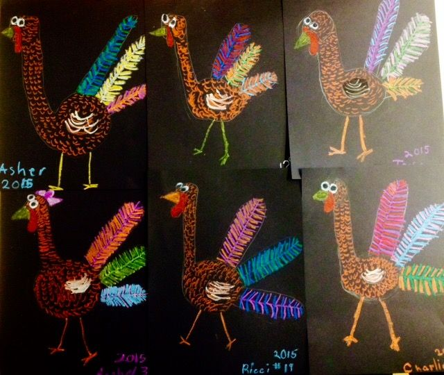 2nd Grade Texture Turkeys, Oil pastel, craypas, fall art projects, thanksgiving art,elementary art lessons, middle school art lessons, www.ArtTeacherinLA.com
