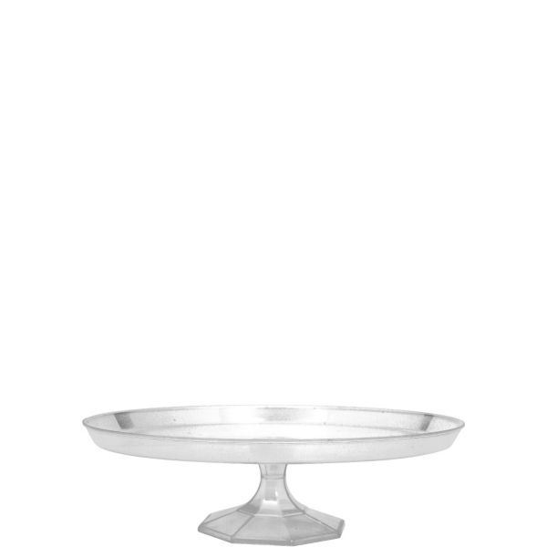 Clear Plastic Cake Stand 9in