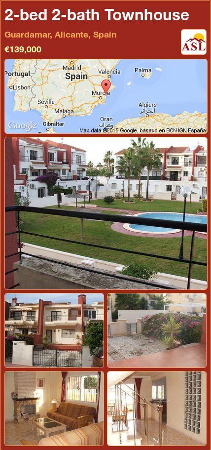 2-bed 2-bath Townhouse in Guardamar, Alicante, Spain ►€139,000 #PropertyForSaleInSpain