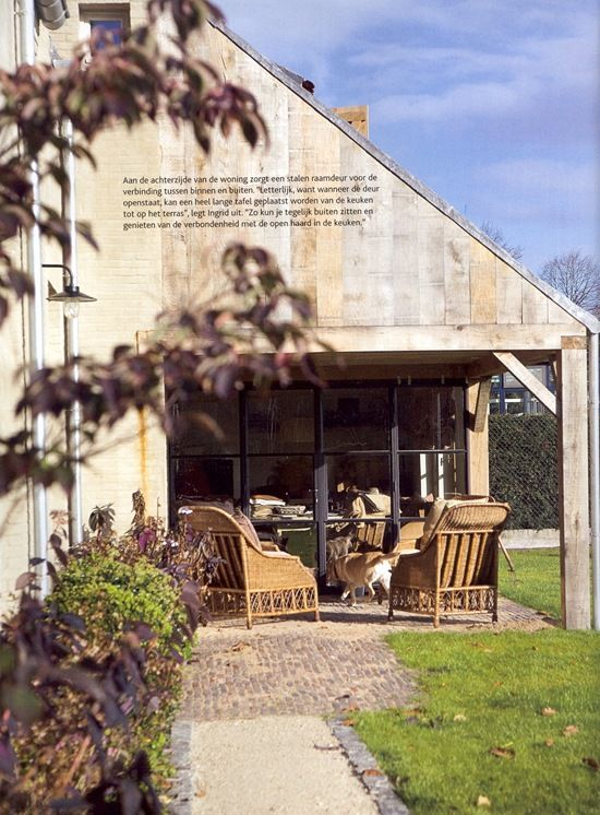 steel windows and doors on a Belgian farm house