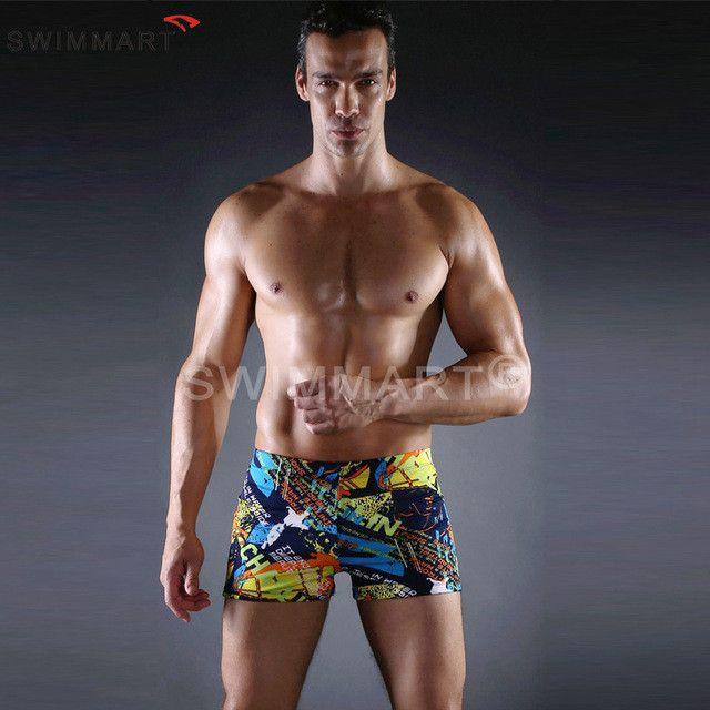 New Men Swimsuits Swimming Boxer Shorts mayo Beach Surf Board Shorts Trunks Men's Swimwear Brand swimsuit