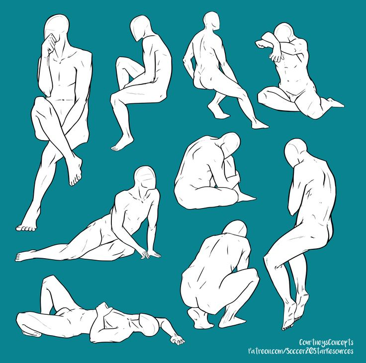"courtneysconcepts:  "" A couple more Anatomy Poses from an open model session  Check out more here:  http://courtneysconcepts.deviantart.com/gallery/49646831/Human-Figure-Study-and-Tutorials  """