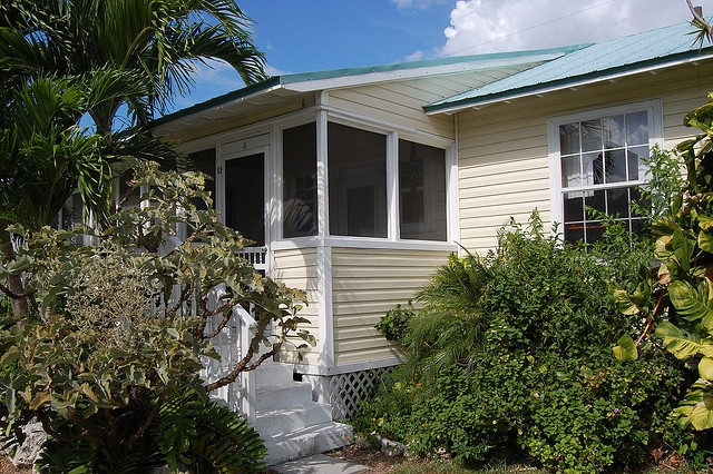 "This is one of our ""conch cottages"" on our vacation rental property on Cudjoe Key in the Florida Keys. It's about 15 miles or so from Key West. Guests love the property because its a short drive to Key West, but still far from the noise and comotion  i found some awesome place"