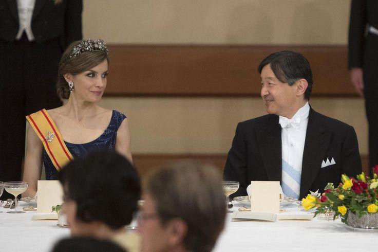 Dîner D'Etat De Felipe VI Et Letitzia D'Espagne Au Japon Le 5 Avril 2017 16
