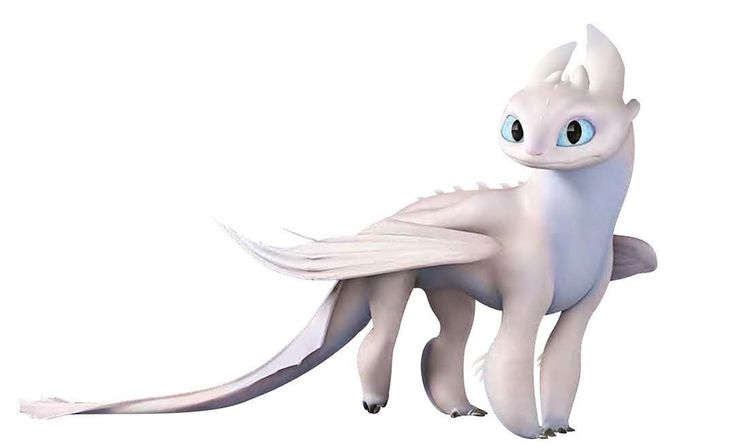 light fury with spines  how to train dragon how to train