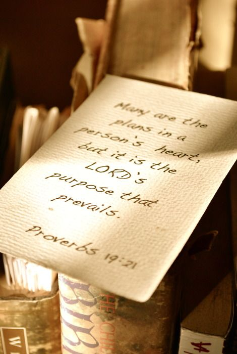It is the Lord's purpose that prevails