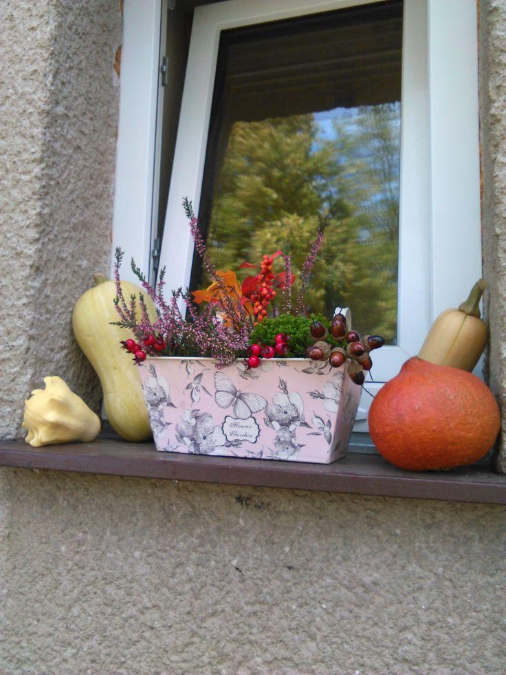 Podzimní truhlík na okno