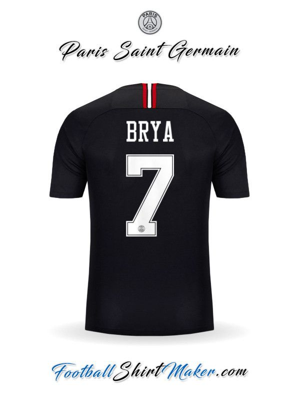 86d1037f6ac Jersey Paris Saint Germain 2018/19 Jordan Brya 7 | Kits | Paris ...