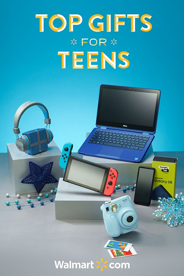 "Searching for the perfect gift for that teenager in your life? Give them a holiday season to remember with this year's must-have gifts from Walmart. Shop today.   Top Gifts for Teens include: Nintendo Switch Console, Dell Inspiron 11 11.6"" Laptop, Samsung Galaxy S8 on Straight Talk, JLab Neon Bluetooth Headphones and Fuji Instax Instant Camera."