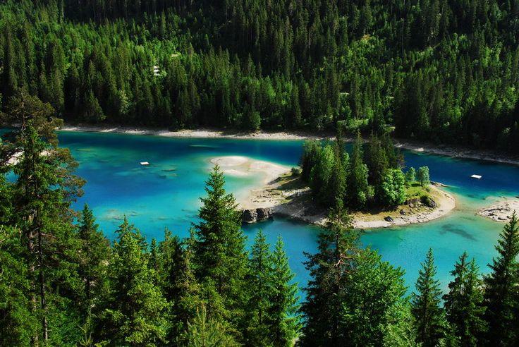 Caumasee, Graubünden, Zwitserland