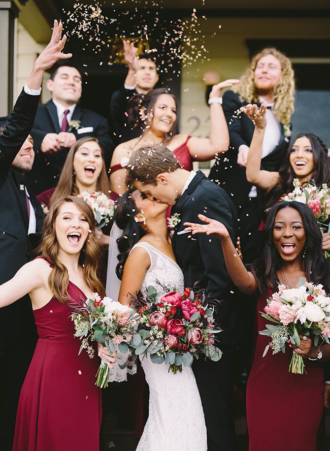 Burgundy Wedding at Cass House Cayucos – Red Wedding