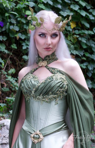 Elven Bridal Gown Model by Lillyxandra.deviantart.com. Dress by Firefly Path