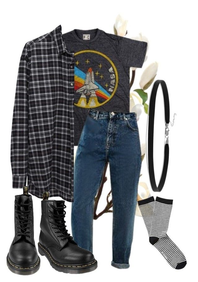 """hello goodbye"" by qimmig on Polyvore featuring 6397, Witchery, Dr. Martens and BillyTheTree"