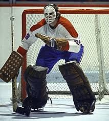 Ken Dryden, early in career with Montreal Canadiens.