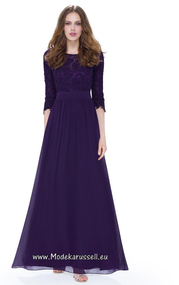 Elegantes Lila Spitzen Abendkleid Surya