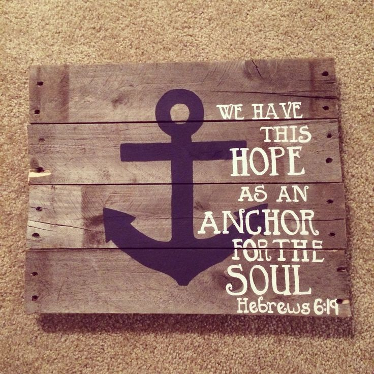 infinity sign with anchor with bible verse. hebrews bible verse pallet wall artorrr my anchor holds within the veil infinity sign with anchor