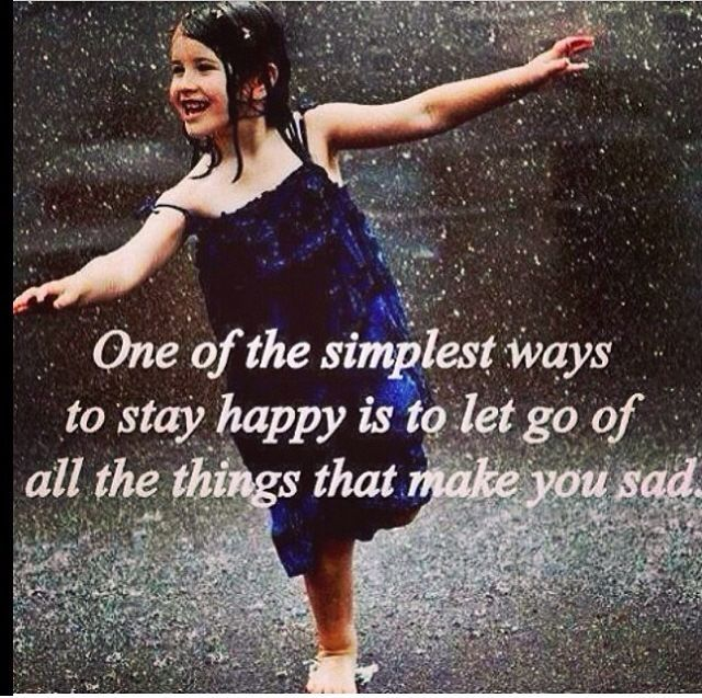One of the Simplest Ways to Stay Happy life quotes happy sad let go one instagram instagram pictures instagram graphics instagram quotes ways