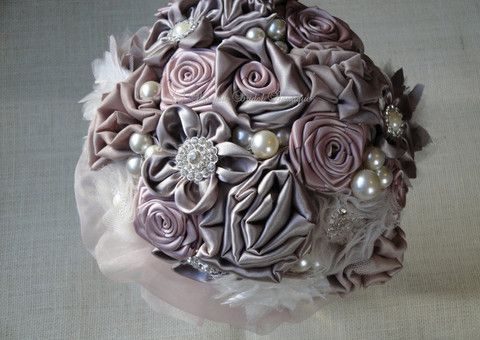 Elle Fabric Elegant Fabric Chic Bridal Bouquet | Baroque Bridal