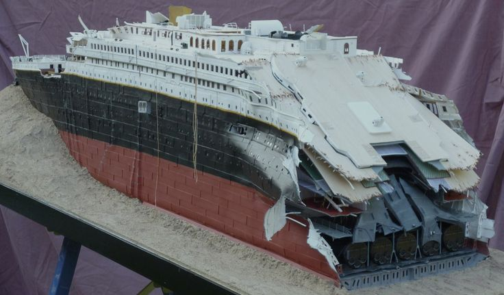 Titanic Forum 1912 Titanic Wreck Model 1 100 Scale For