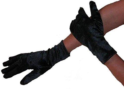 4a53325a7cc74 Kurze elegante Damen Satin Handschuhe dunkelblau Modana 50971 ...