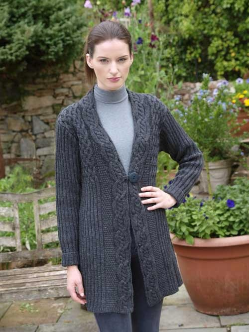 ONE BUTTON KNITTED CARDIGAN  Natallia Kulikouskaya for WEST END KNITWEAR