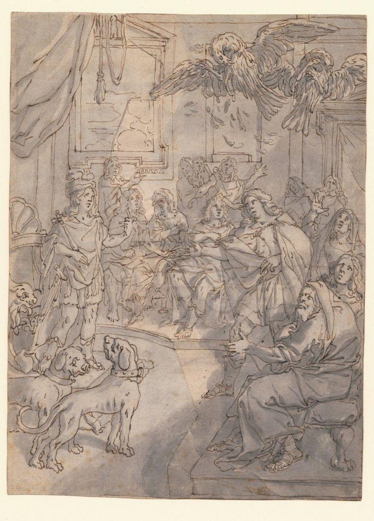 Disegno ORIGINALE BAROCCO ITALIA 2. metà 17. secolo Aeneas per DIDO? | eBay