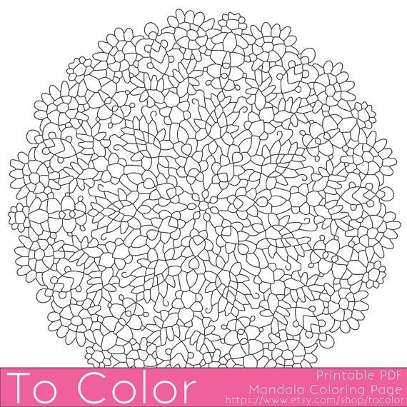 Printable Coloring Page For Adults Mandala Pattern PDF