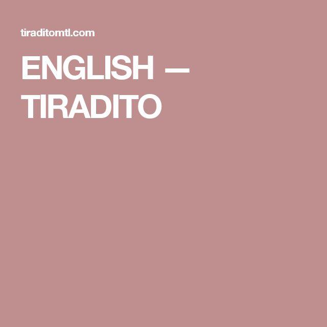 ENGLISH — TIRADITO