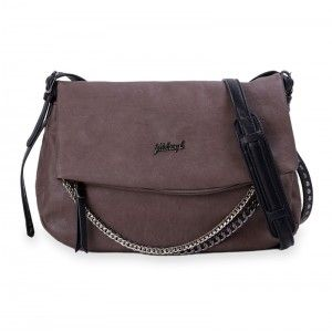 Twin Chain Taupe Fullah Sugah Bag #leather #handbag