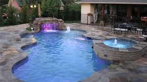 5 Stunning Free Form Pool Design Ideas With Pictures: Purple Lights Of  Remarkable Free Form Pool Designs