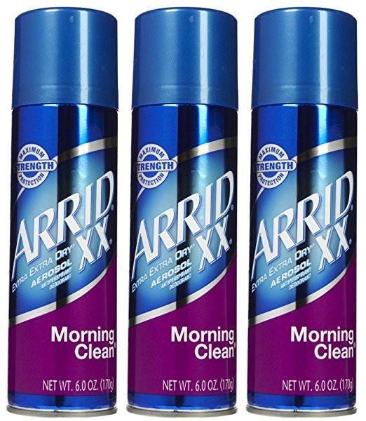 Arrid XX Aerosol Spray Antiperspirant & Deodorant, Morning Clean - 6 oz (Pack of 3)