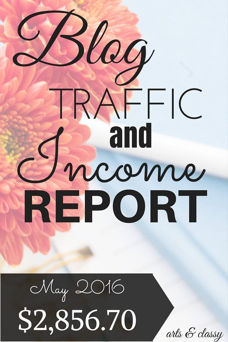 Blog Traffic and Income Report for May 2016. Learn how I made $2,856.70 from my blog this month! I am breaking it down for all the newbie bloggers.