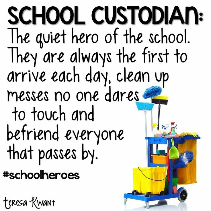 31 best Custodian appreciation images on Pinterest Cards, School - another word for janitor
