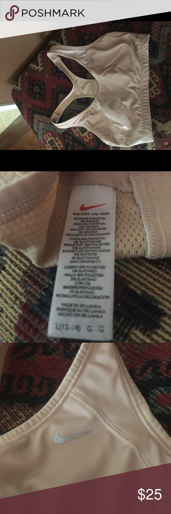Nike nude sports bra Nike nude sports bra. Size Large. Nike Intimates & Sleepwear Bras