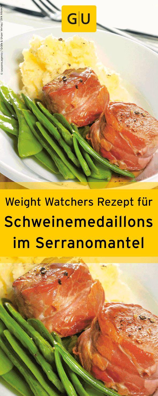 """Weight-Watchers-Rezept für Schweinemedaillons im Serranomantel aus dem Buch """"Weight Watchers 20-Minuten-Küche"""". ⎜GU"""