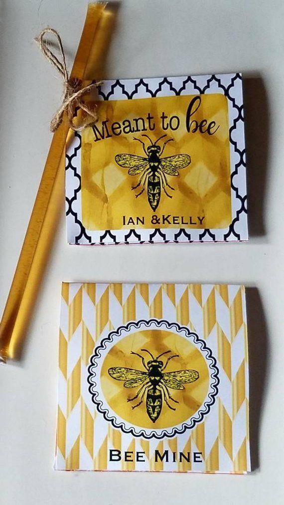 Wedding Bee Bridal Shower Tea Bag Favors Custom Honey Sticks Etsy In 2020 Tea Bag Favors Honey Wedding Favors Bridal Shower Tea