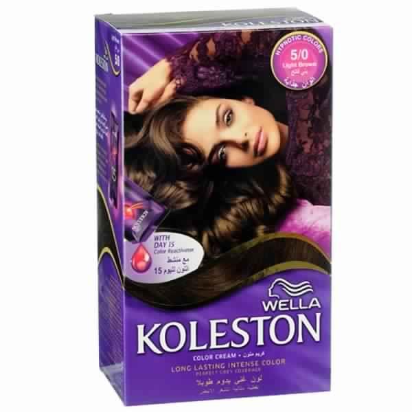 صبغة شعر كوليستون بني فاتح موضة العام Wella Koleston Intense Colors Color