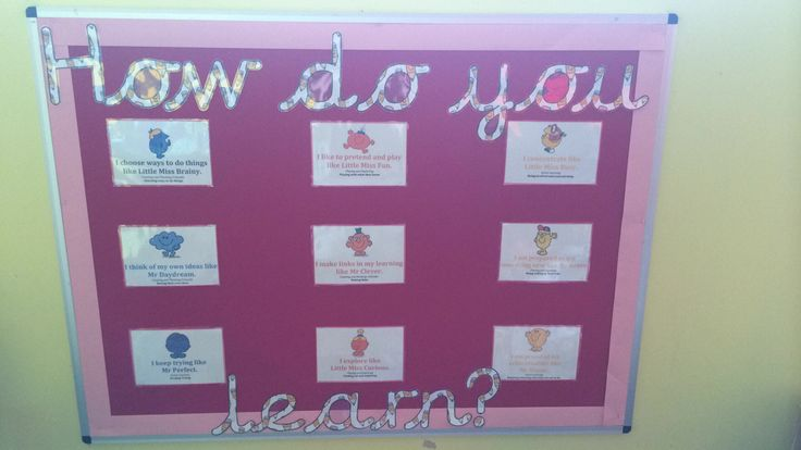 Classroom Ideas Early Years ~ My new mr men characteristics of effective learning