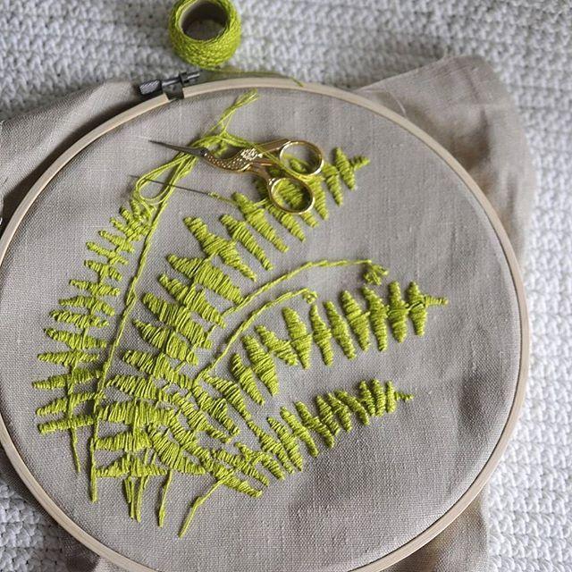 Embroidery fern https://www.facebook.com/oplot