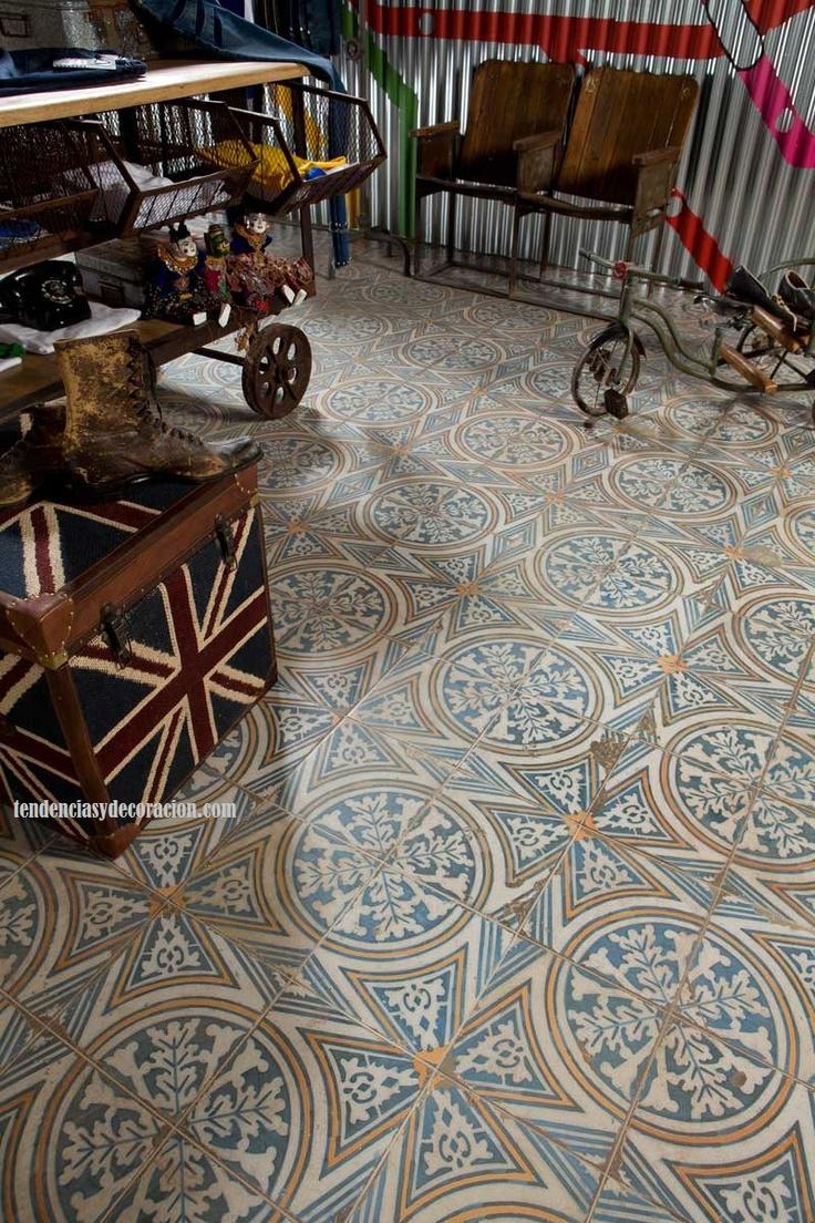 BlogTendenciasyDecoración: Suelos con mosaicos hidráulicos, una vuelta a lo tradicional