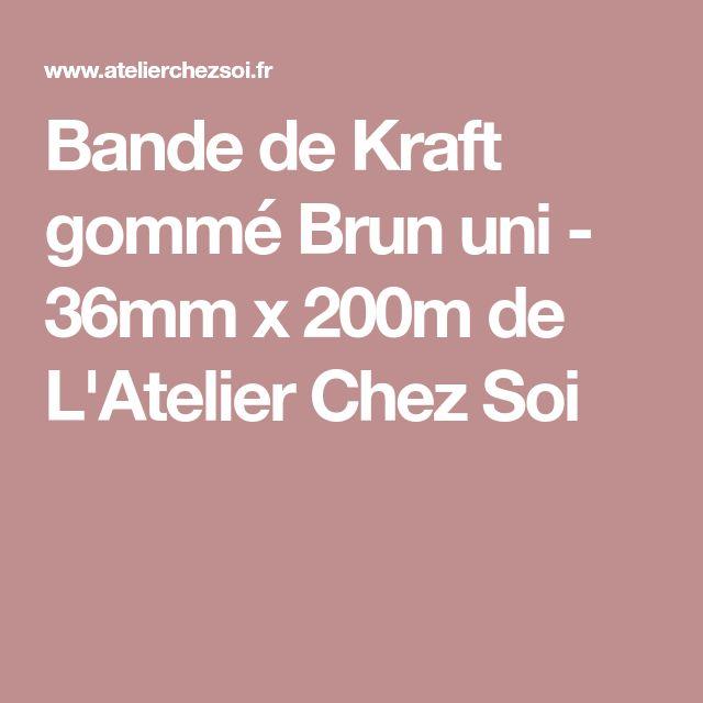 Bande de Kraft gommé Brun uni - 36mm x 200m de L'Atelier Chez Soi