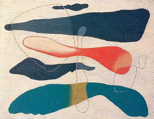Willi Baumeister (1889 - 1955) | Abstract Art | Colored Ideogram - 1939