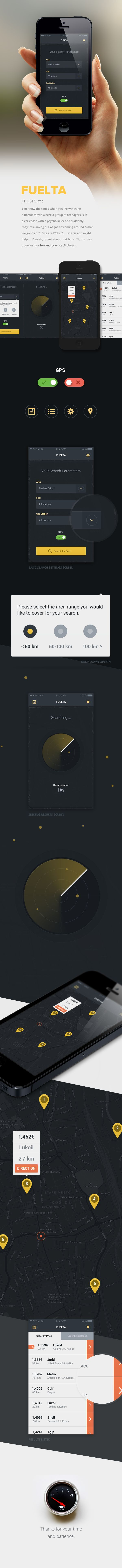 Fuelta - app concept on Behance