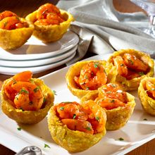 Seafood-Stuffed Plantain cups | GOYA®. Looking for an alternative to meat for the last week of Lenten? This delicious Caribbean specialty takes less than 30 minutes to make!
